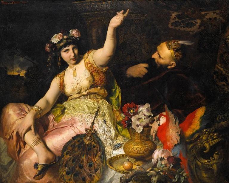 Scheherazade and Sultan Schariar (1880) | © Ferdinand Keller/WikiCommons