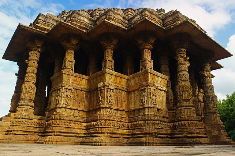 Temple exterior carvings © Four Blissful Feet