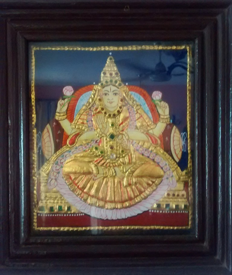 Thanjavur Painting by K Mrinalini, former English tutor and homemaker, Bangalore | © Jyotsna Gupta