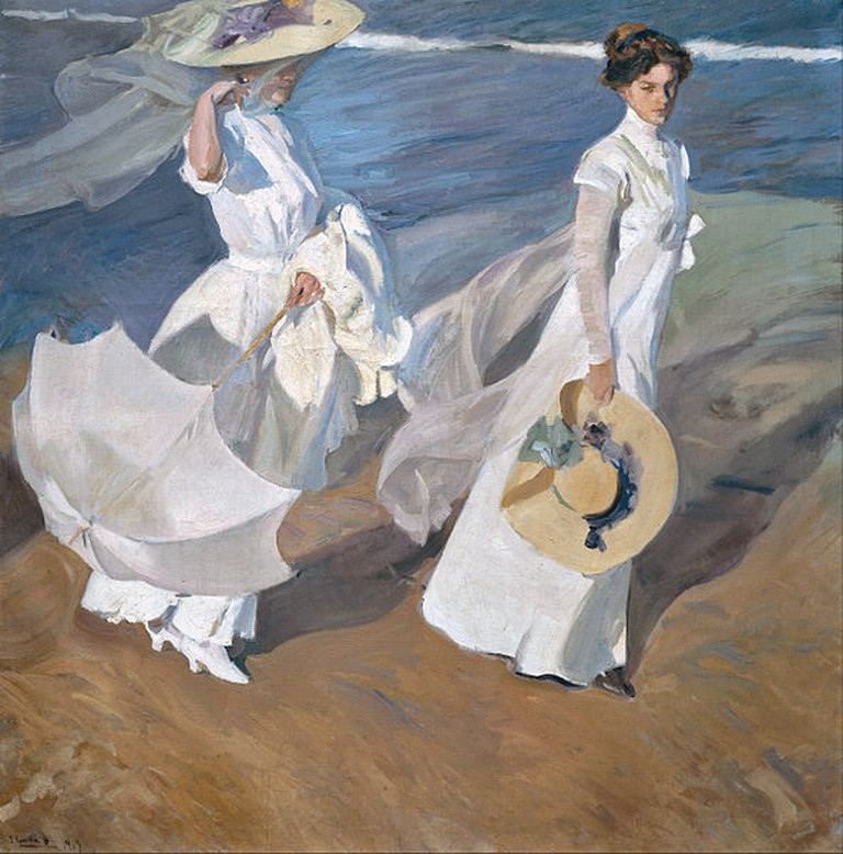 Walk on The Beach by Joaquín Sorolla