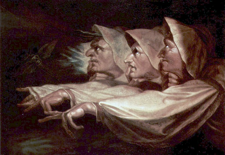 The Weird Sisters or The Three Witches (1783), oil on canvas