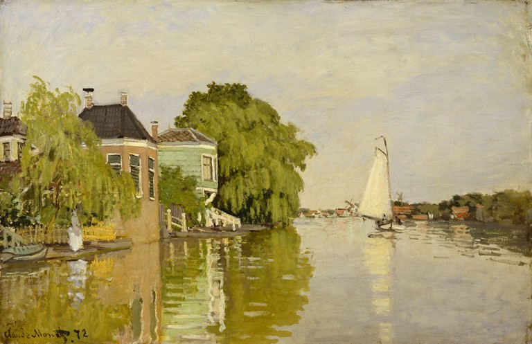 Monet, Claude (1840-1926): Landscape at Zaandam, 1871. New York, Metropolitan Museum of Art*** Permission for usage must be provided in writing from Scala.