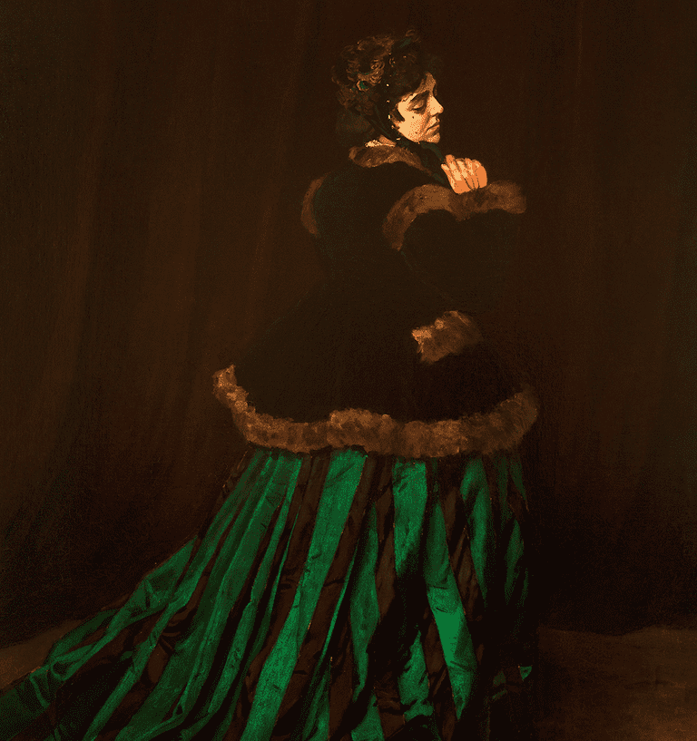 Woman in the Green Dress, 1866