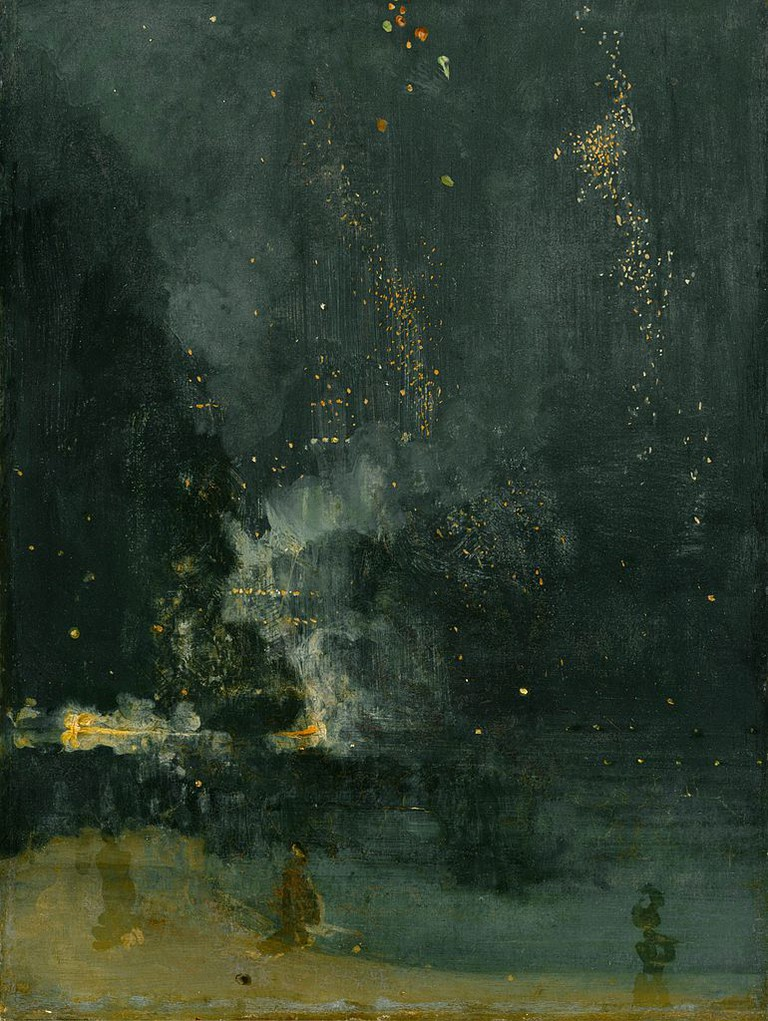 Whistler, Nocturne in Black and Gold, The Falling Rocket, 60.2 x 46.7 cm, Detroit Institute of Arts, 1875 | © Howcheng/WikiCommons