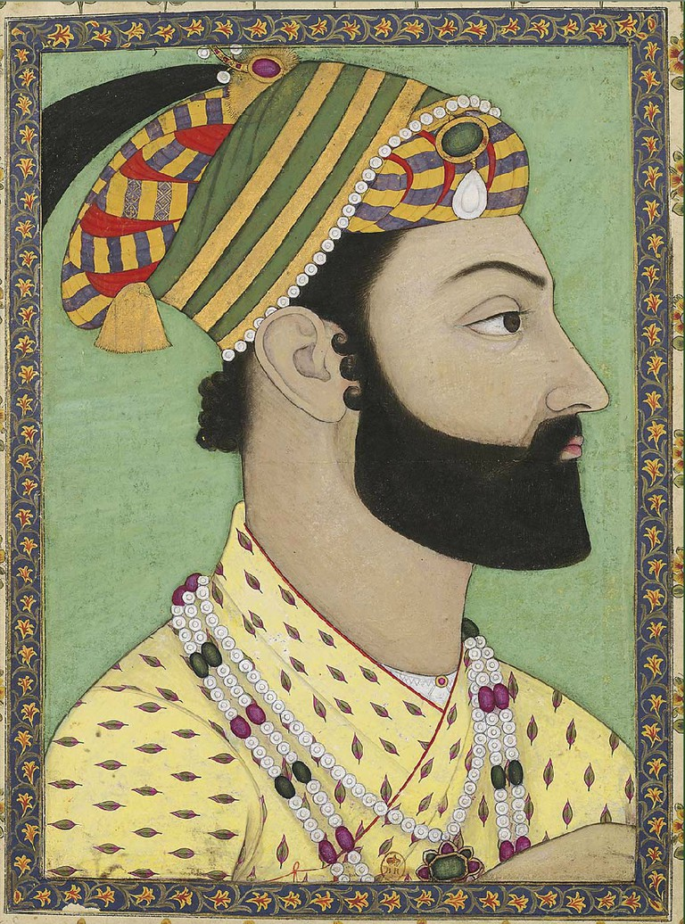 Portrait of Ahmad Shah Durrani, Mughal miniature, ca.1757, Bibliothèque nationale de France | © Wikicommons