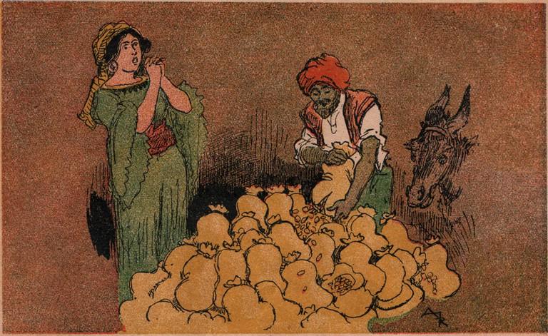 Ali Baba Presents Treasures, 1945 | ©Albert Robida/WikiCommons
