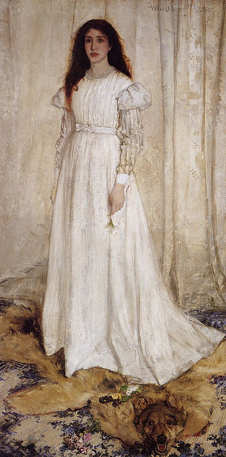 Whistler, Symphony in White, No. 1: The White Girl, 213 x 107.9 cm, National Gallery of Art, 1862 | © File Upload Bot (Cobalty)/WikiCommons