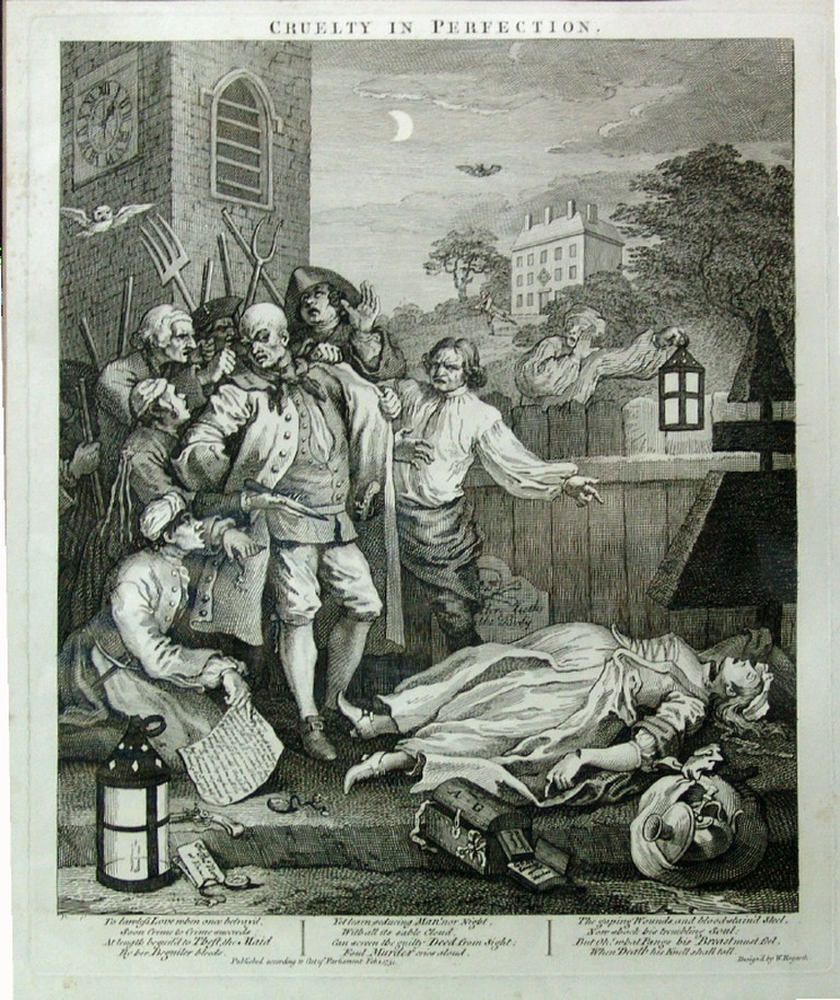 Hogarth, The Four Stages of Cruelty: Cruelty in Perfection, 385 x 318 mm, British Museum, 1751 | © Yomangani/WikiCommons