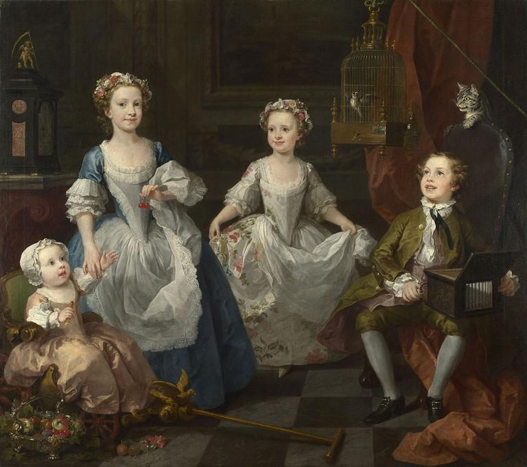 Hogarth, The Graham Children, 160.5 x 181 cm, The National Gallery, 1742