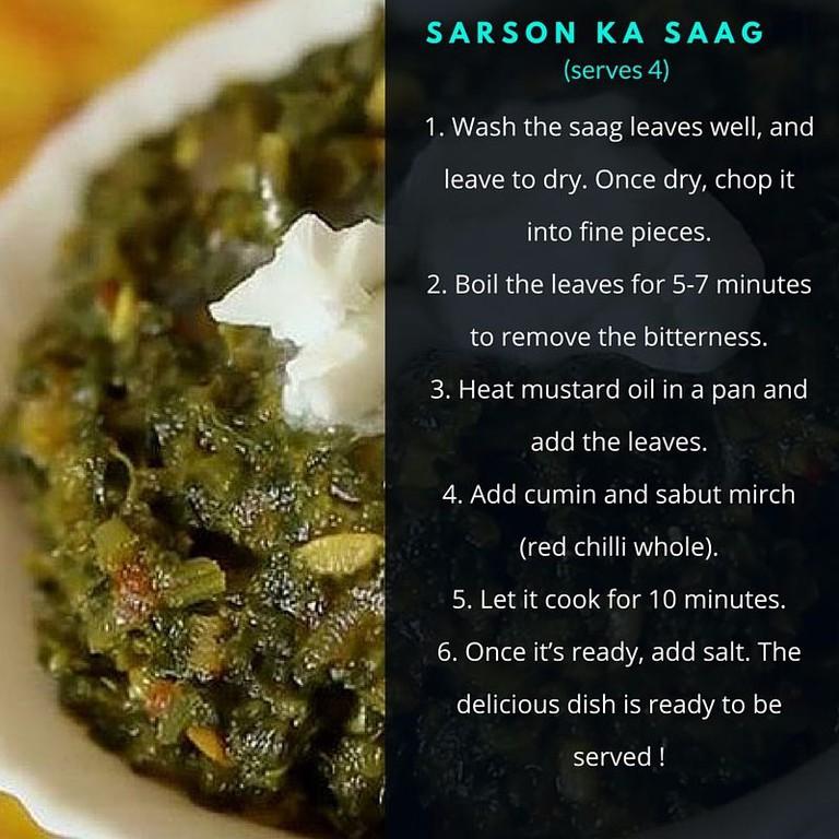 Sarson ka saag recipe.