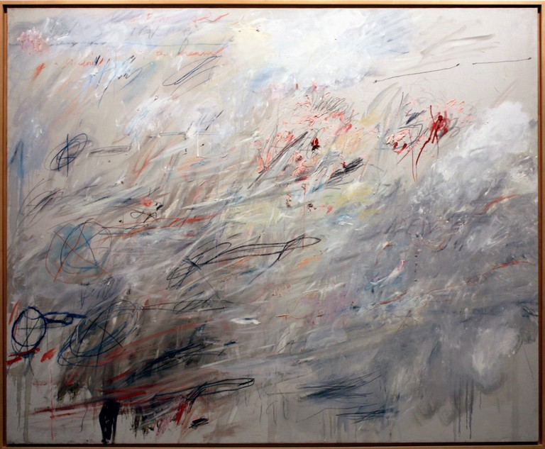 Cy Twombly, Untitled, 1964/1984. Oil stick, wax crayon and graphite on canvas, 80-1⁄2 x 98-1⁄4 inches. The Whitney Museum of American Art. Promised gift of Emily Fisher Landau. P.2010.351.