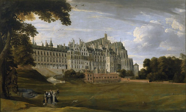 The Palace of Coudenberg from a 17th-century painting|© Jan Brueghel the Younger - Museo del Prado, Madrid/ Wiki Commons