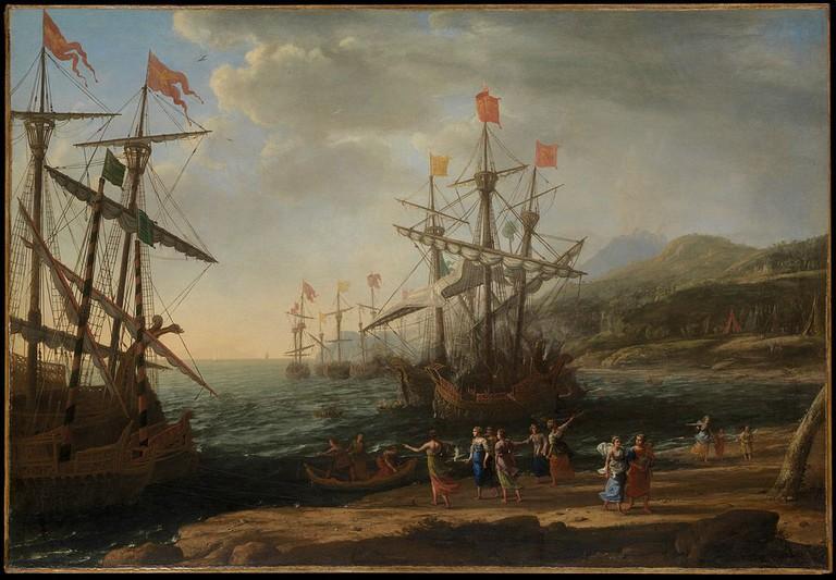 Claude Lorrain, The Trojan Women Setting Fire to Their Fleet, 1643