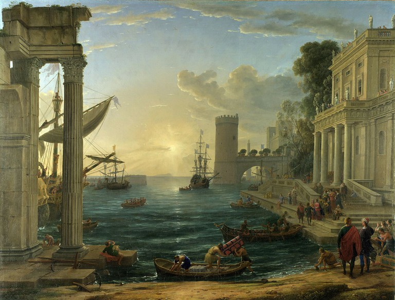 Claude Lorrain, The Embarkation of the Queen of Sheba, 1648 | © National Gallery | WikiCommons