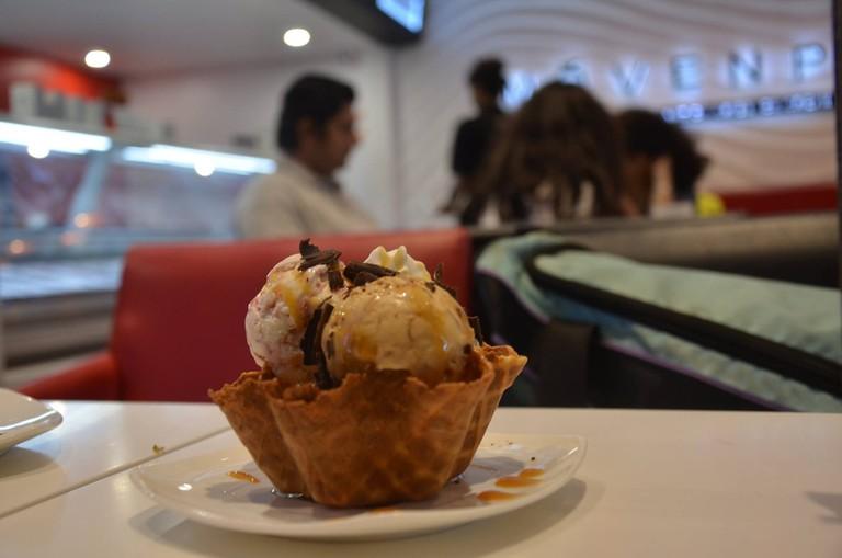 Salted Caramel Ice Cream Sundae at Movenpick ©Sucheta Thakur