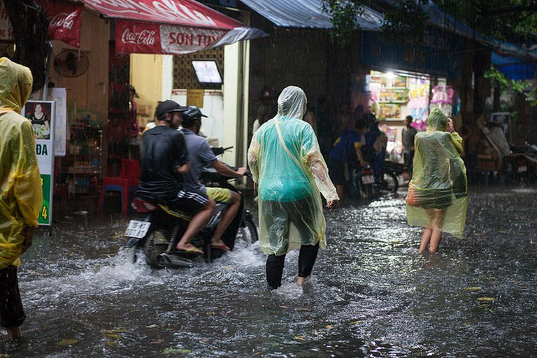 Monsoon downpour in Hanoi