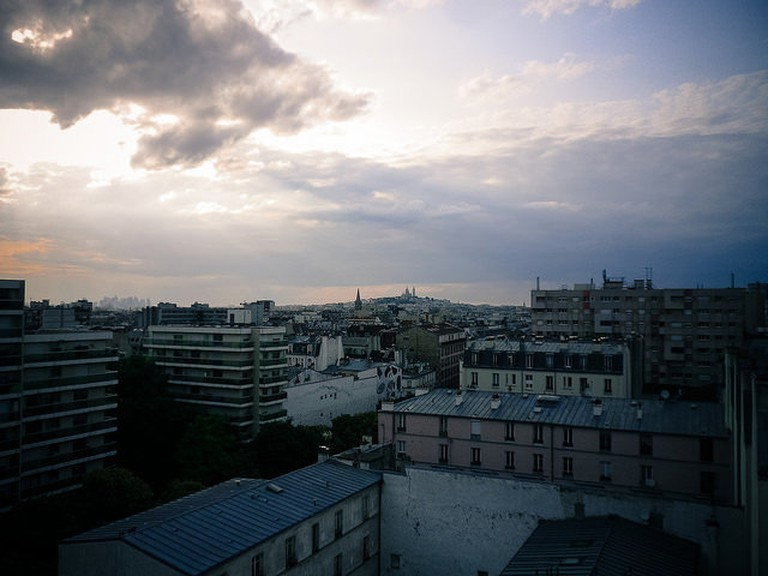 View to Montmartre from Le Perchoir