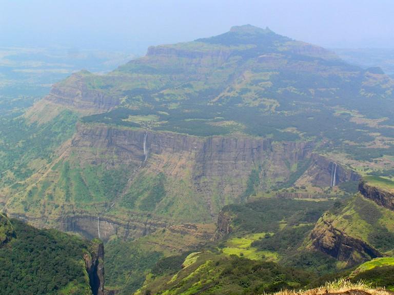Bhandardhara, waterfalls in the distance © Flickr/Elroy Serrao