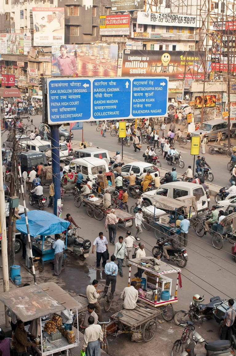 The busy streets of Patna today