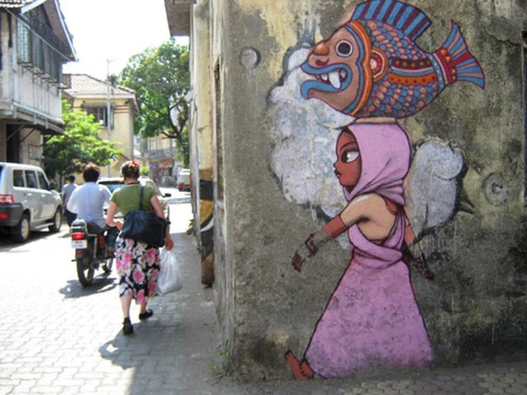 Ranwar village graffiti