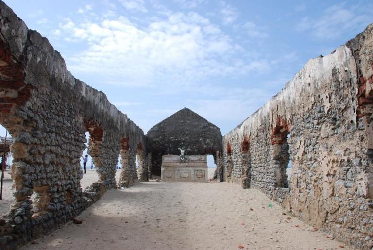 Ruins on the beach at Dhanushkodi