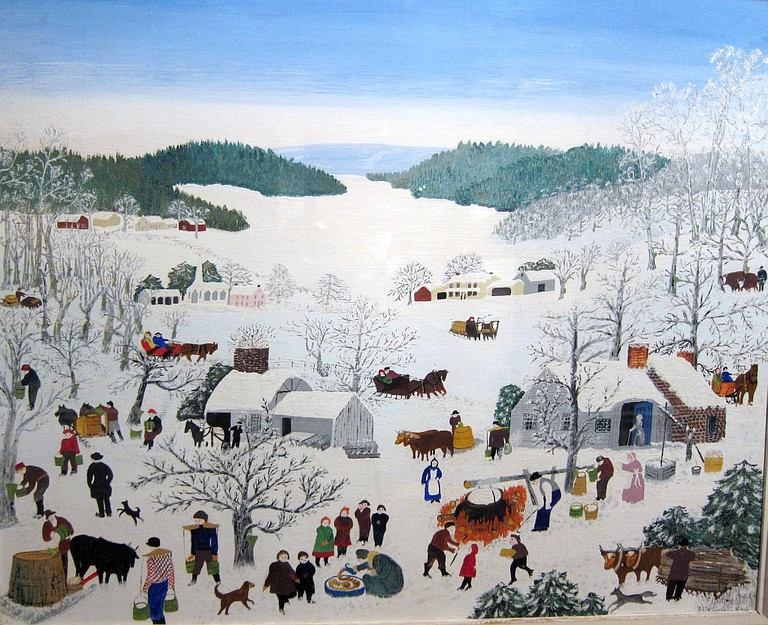 Grandma Moses, Sugaring Off, 1945 | © Bosc d'Anjou/Flickr