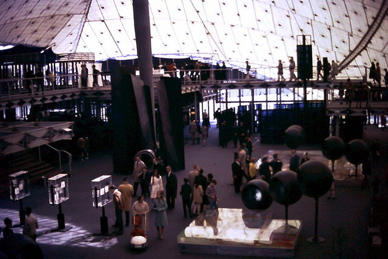 Interior view, West Germany Pavilion, Expo 67, Montreal Canada