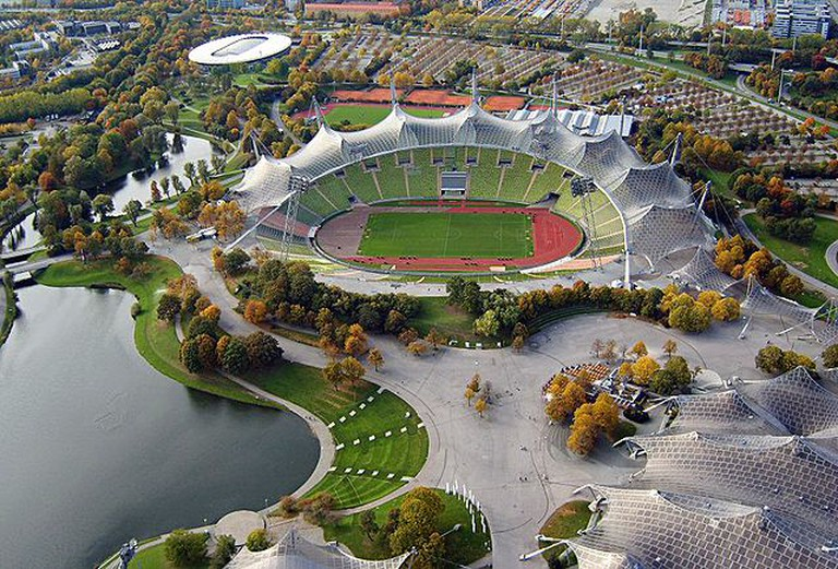 The Olympic Stadium in Munich makes extensive use of tensile roofing structures.