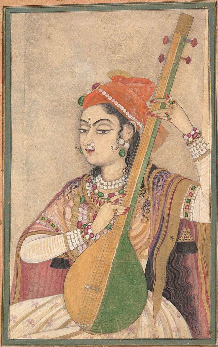 A Lady Playing the Tanpura   © Fletcher Fund, 1996/WikiCommons