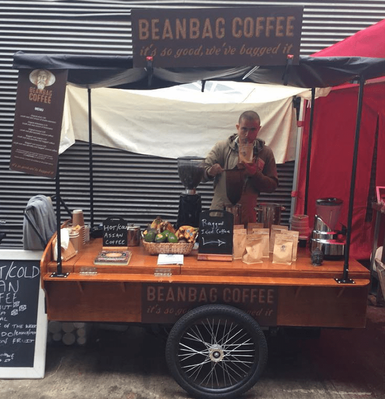 Beanbag Coffee Stand at the Maltby Street Market