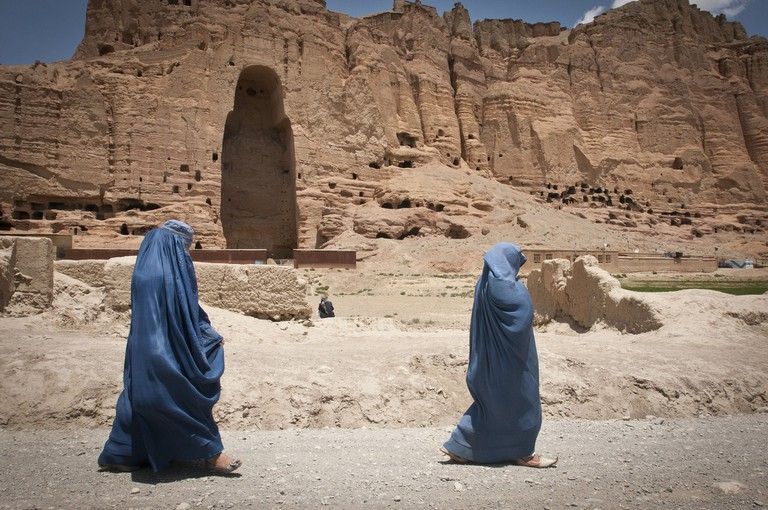 The space formerly occupied by one of the Buddhas of Bamiyan, Afghanistan