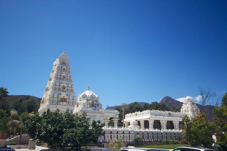 Exterior view of the Malibu Hindu Temple