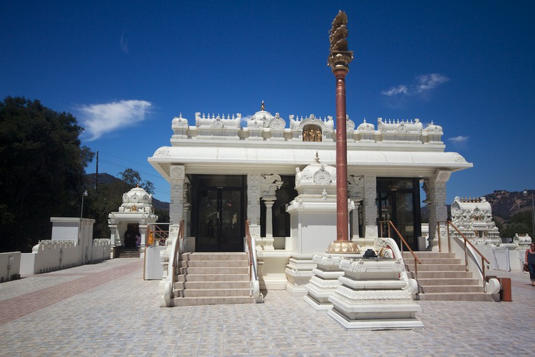 Elevated central temple dedicated to Lord Venkateswara