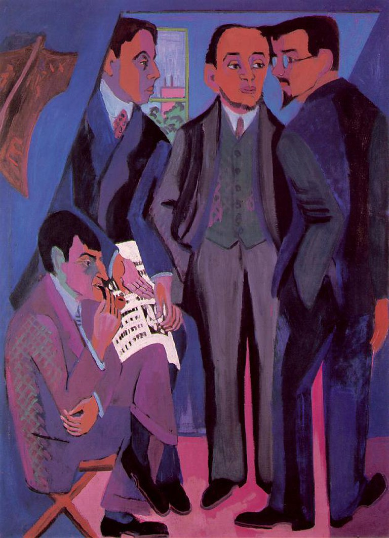 Painting of the group members by Ernst Ludwig Kirchner in c.1926 © Dr. Colossus/WikiCommons
