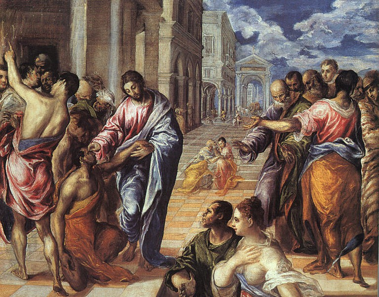 El Greco, Christ Healing the Blind, ca, 1570