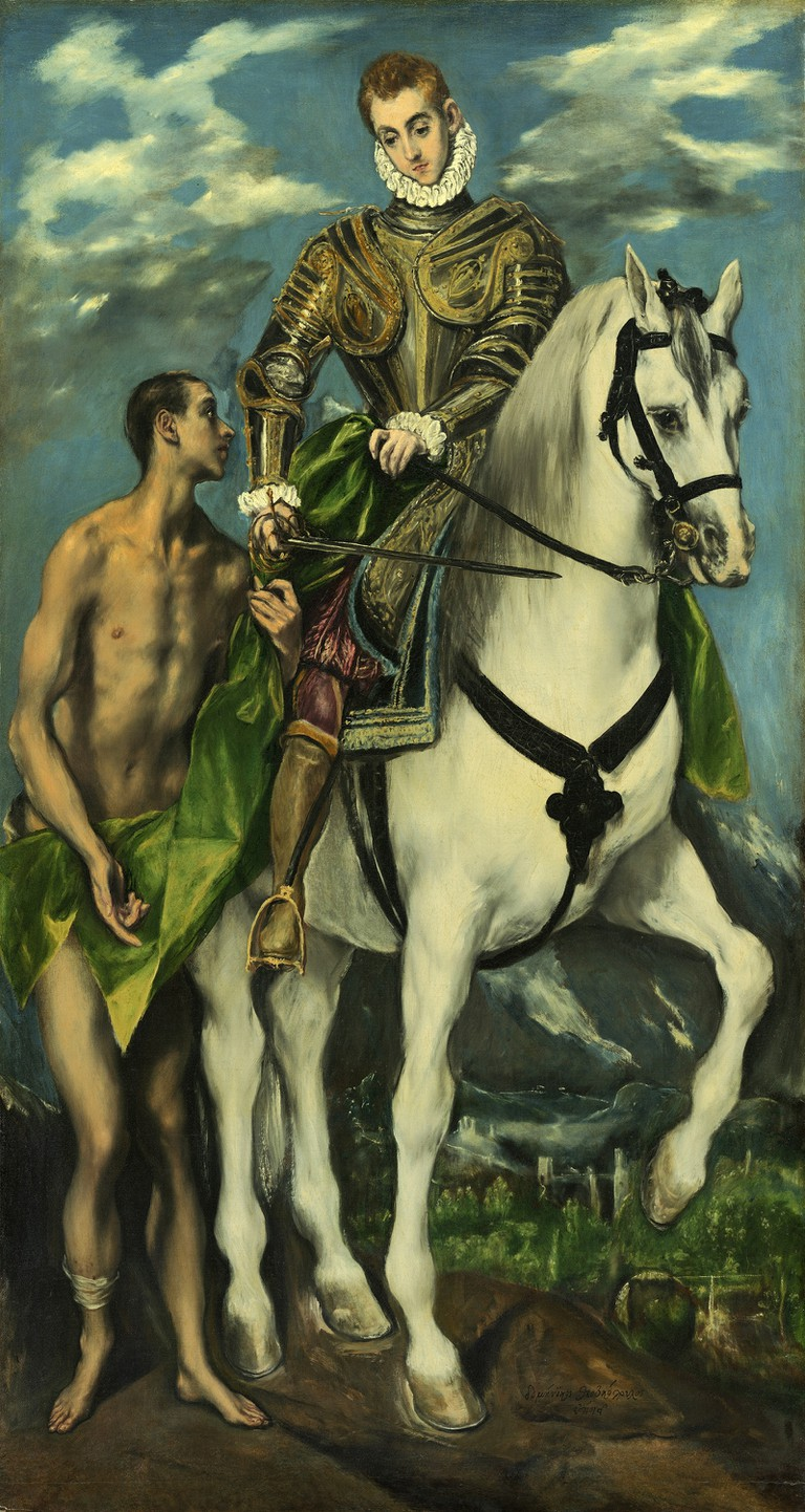 El Greco, Saint Martin and the Beggar, 1597-99 | © National Gallery of Art/WikiCommons