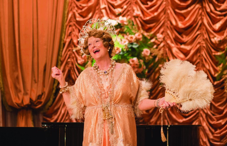 Meryl Streep as Florence Foster Jenkins during one of her recitals.
