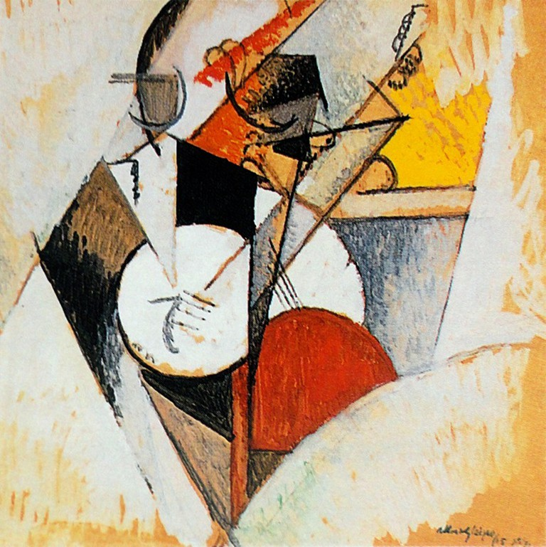 """Composition pour Jazz"" Painting 