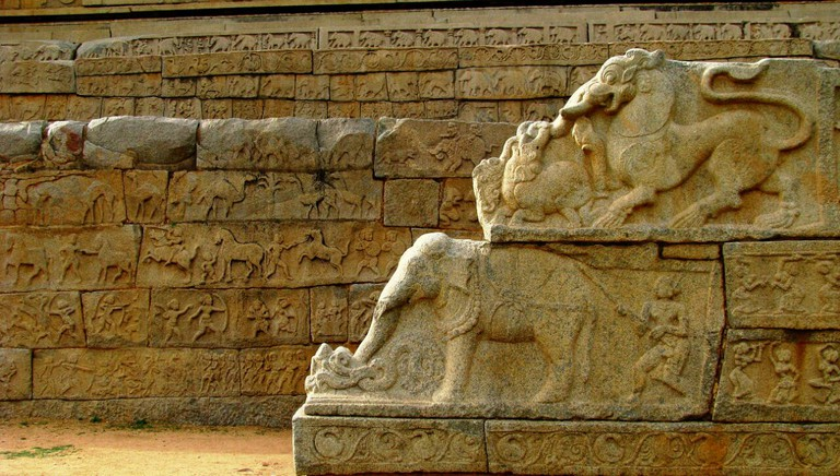 Typical Sculpture On the Mahanavami Dibba
