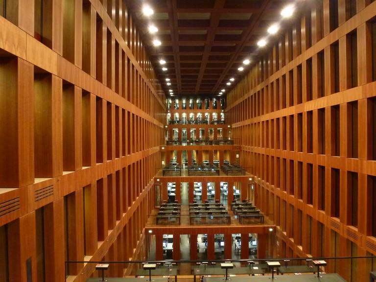 Inside the Grimm Zentrum University Library Humblot Universität zu Berlin