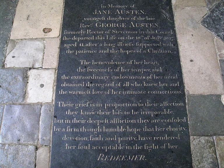 Jane Austen's Memorial in Winchester Cathedral © Spencer Means/Flickr.com