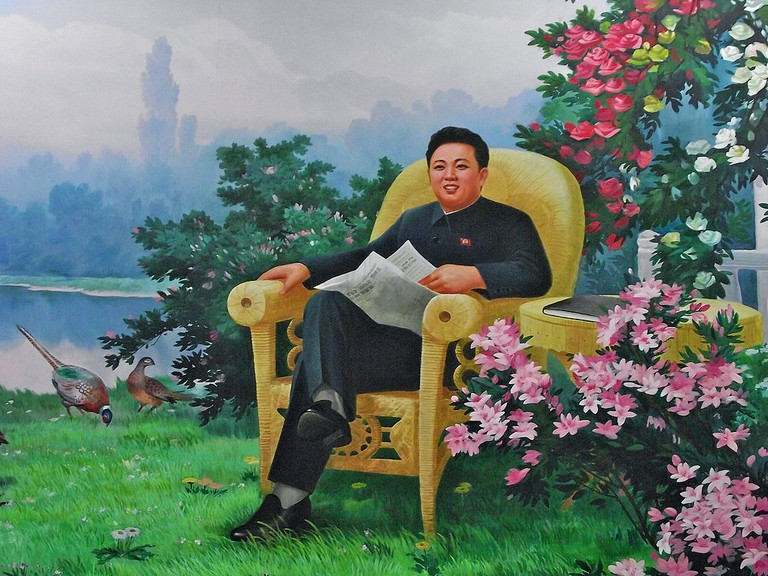 Idealized portrait of The Dear Leader, Kim Jong-Il | © Mark Fahey/wikiCommons