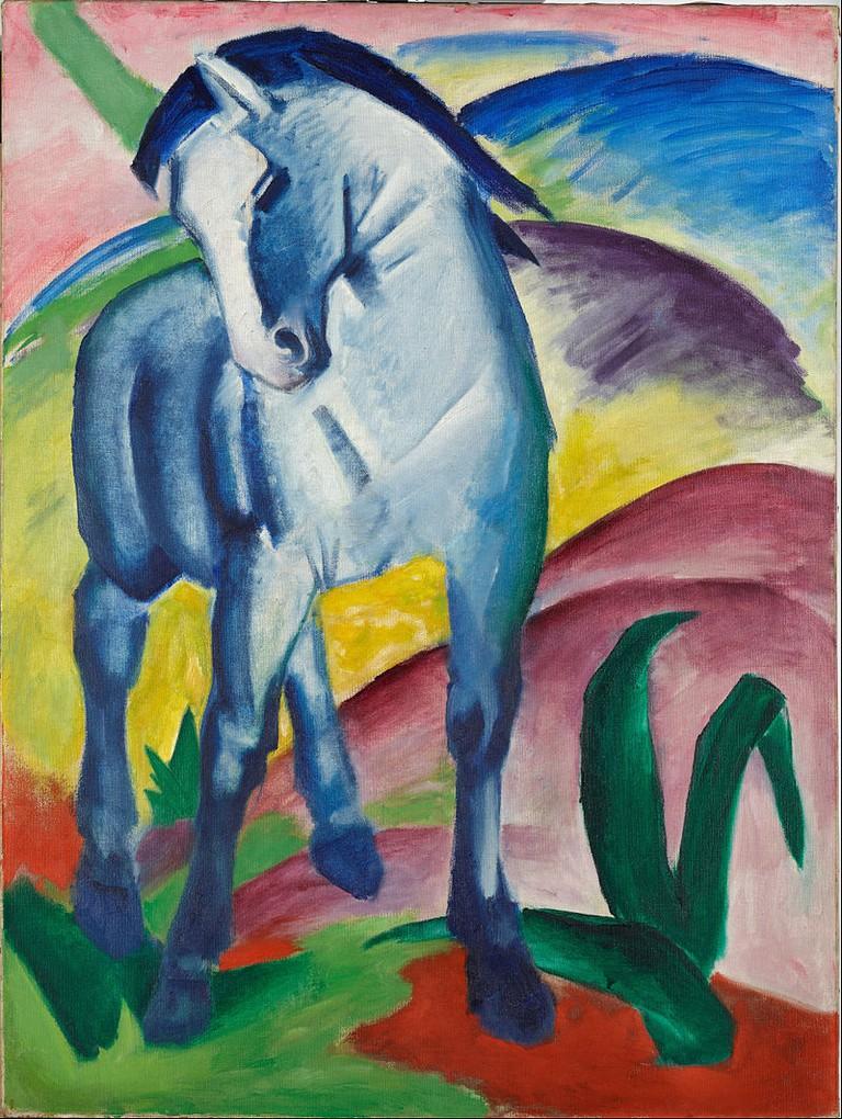 Blue Horse I by Franz Marc 1911 © DoetzeeBot/WikiCommons