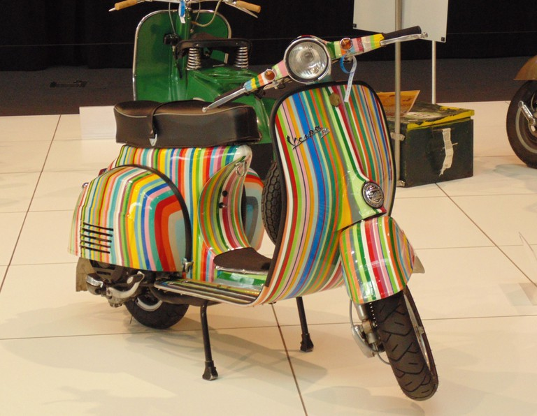 Colorful Vespa scooter