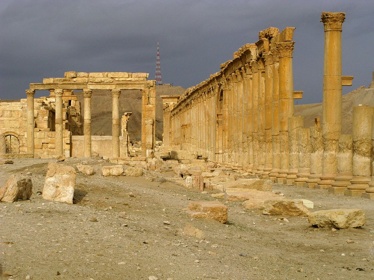 Palmyra, Syria in 2009 before the 2015 Isis attack
