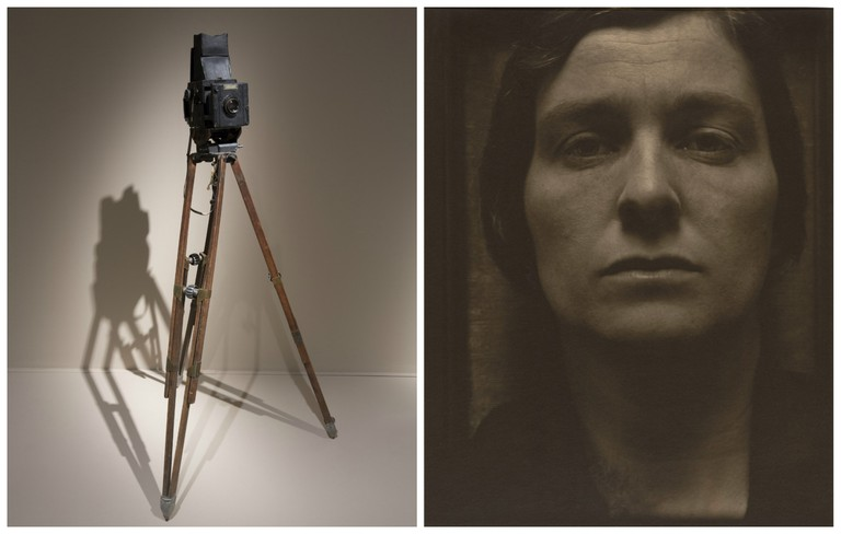 Installation view of Paul Strand at the V&A | Courtesy of Victoria and Albert Museum, London // Rebecca, New York, 1921 | Courtesy of Paul Strand Archive, Aperture Foundation