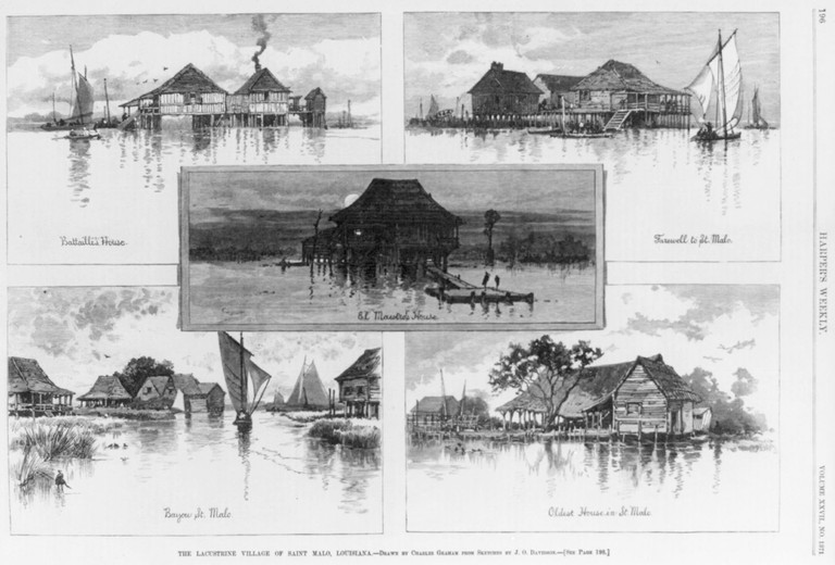 Five views of Saint Malo, Louisiana, 1883