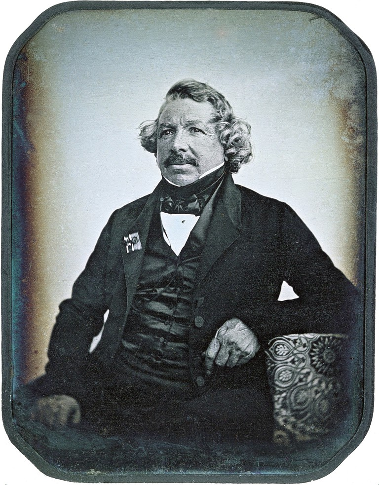 Portrait of Louis Daguerre, a daguerreotype image similar to what Richard Carr worked with.