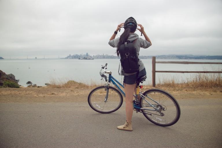 Biking Angel Island