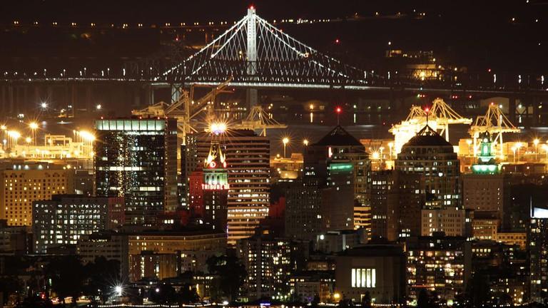 Night Skyline with Bay Bridge